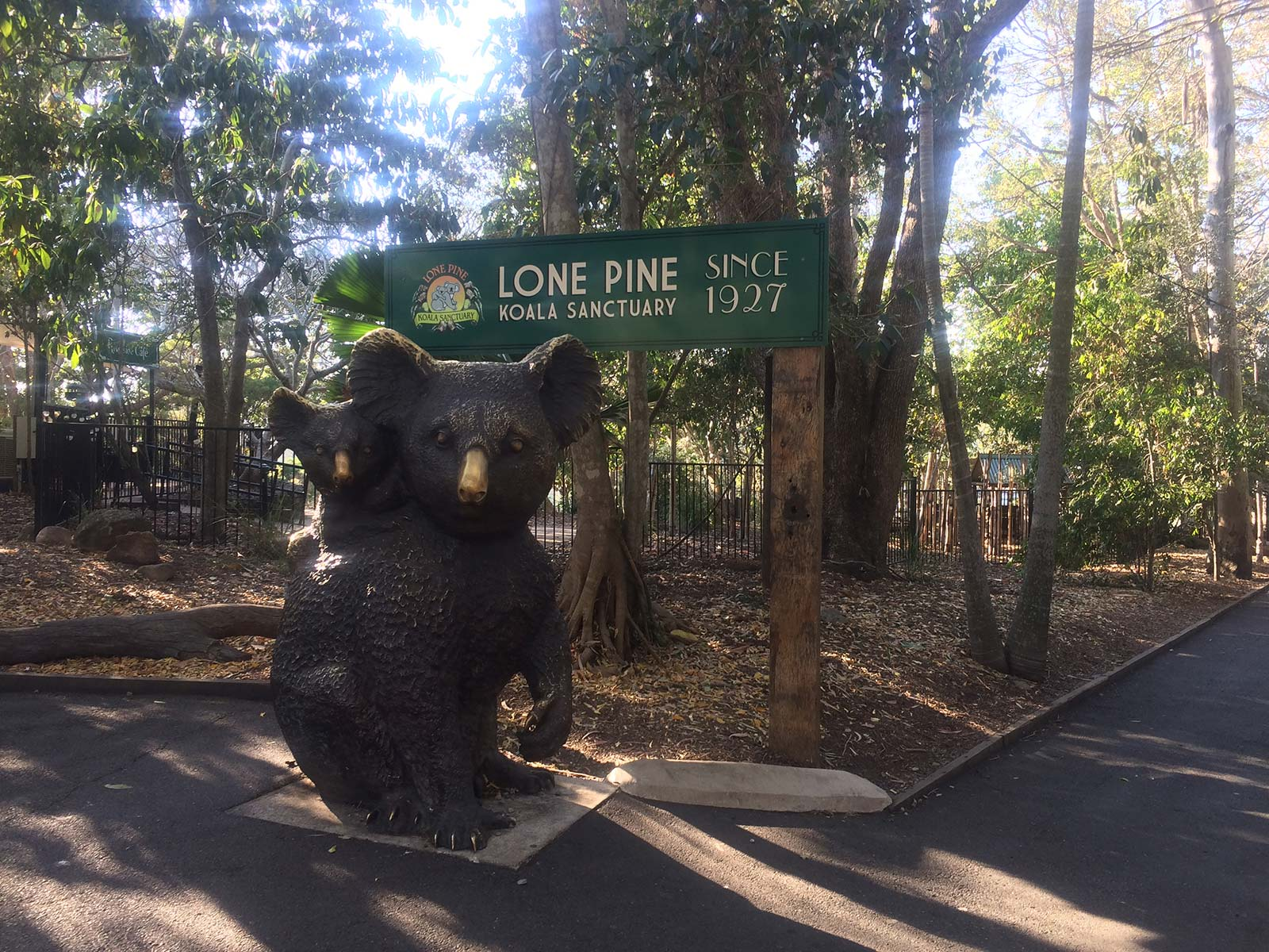 Photograph of the entrance to Lone Pine Koala Sanctuary
